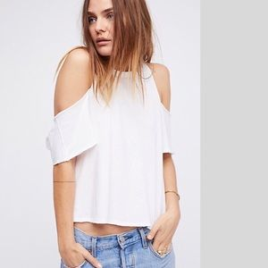 Free People new cold-shoulder Tee NWT